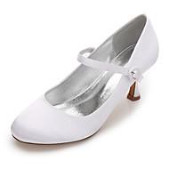 Feminino Sapatos De Casamento Conforto MaryJane Plataforma Básica Cetim Primavera Verão Casamento Social Festas & NoiteCadarço de