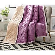 超柔らかい 純色 コットン 毛布