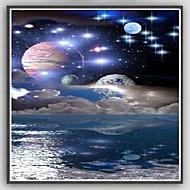 Fantasie Planeten Sterne Raum Kunst Seide Poster Zuhause Dekor Malerei