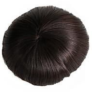 ανδρικό toupee 7x9 ίντσες ανθρώπινα μαλλιά μονό μαλλιά βάσης σύστημα αντικατάστασης μαλλιών μονόινα καθαρή βάση για άνδρες