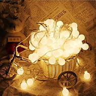 10m 100 leds pallo muotoinen merkkijono valot ac220v loma koristelu lamppu festivaali jouluvalot ulkovalaistus