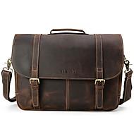 남성 가방 사계절 소가죽 등에 매는 가방 와 지퍼 용 캐쥬얼 다크 브라운