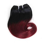 Омбре Бразильские волосы Волнистые Естественные волны Естественные кудри 1 год 4 волосы ткет 0.1 кг Пряди с быстрым креплением