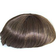 6 ίντσες remy ανθρώπινο μαλλιά άνθρωπος toupee ανθρώπινο μαλλιά toupee 8x10 ίντσες μοναδική βάση άνδρες μαλλιά κομμάτι χρώμα # 4
