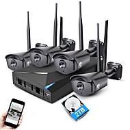 jooan® 4ch 1080p nvr bezdrátový cctv systém 4ks 2mp ip kamera wifi vodotěsný s 2tb hdd