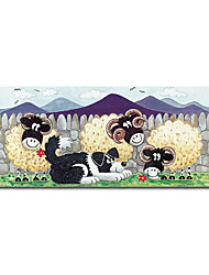 """Handmade Oil Painting on Canvas - Lamb 4 12"""" x 36"""" (SZH046) (Start From 5 Units) Free Shipping"""