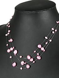 Elegant LightPink Pearl Necklace