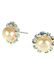 10.5-11mm AA Pink Freshwater Pearl Earring