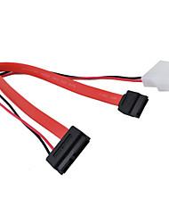 SATA 7-PIN to SATA 7+6-PIN Hard Disk Cable (0.3M)