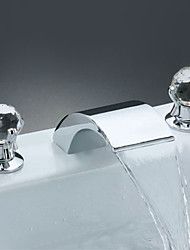 Bathroom Sink Faucets Contemporary Waterfall Brass Chrome