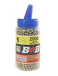 6 milímetros de ouro bb balas de plástico (2000-pack)
