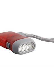 3-LED Dynamo Battery-free Flashlight (Red)