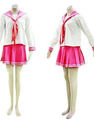 cosplay costume inspiré par lucky star Uniforme scolaire japonais ver rouge.