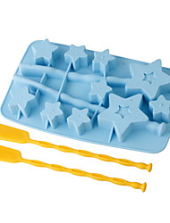 Star Shaped Ice Lollipop Mould (Assorted Color)