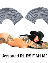 500 stuks gesteriliseerd assorti set tattoo naalden