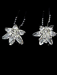 Gorgeous Clear Crystals Wedding Bridal Pins/ Flowers 2 Pieces