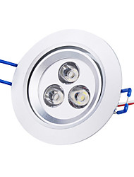 3W LED Recessed Lights / LED Ceiling Lights Recessed Retrofit 3 High Power LED 250 lm Natural White AC 85-265 V