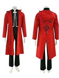 Inspired by Fullmetal Alchemist Edward Elric Anime Cosplay Costumes Cosplay Suits Long Sleeve Cloak Coat Vest Pants For Male