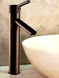 óleo esfregou torneira da pia do banheiro bronze (de altura)