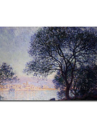 Hand-painted Oil Painting  Antibes Seen from the Salis Gardens by Claude Monet with Stretched Frame