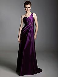 folga! bainha charmeuse / coluna de um ombro varrer vestido de noite trem inspirado por Jane Krakowski no Globo de Ouro