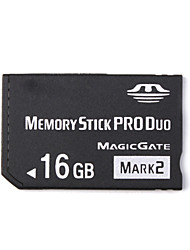16Go Memory Stick PRO DuoMax Read SpeedMinimum of 32MB/sec (MB/S)Max Write SpeedMinimum of 32MB/sec (MB/S)