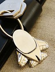 Portachiavi ad anello, con aeroplanino + confezione-regalo in velluto