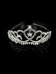 Women's / Flower Girl's Alloy Headpiece-Wedding / Special Occasion Tiaras Clear Square Cut