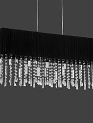 maishang® 4-lumière lustre en cristal avec abat-jour en tissu (1069-MC-22029