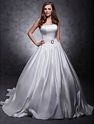 LAN TING BRIDE A-line Ball Gown Princess Wedding Dress - Classic & Timeless Elegant & Luxurious Simply Sublime Chapel Train Strapless