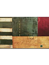 met de hand geschilderde abstracte olieverf met gestrekte kader