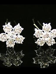 strass magnifiques Pins nuptiale de mariage / fleurs, 2 pièces