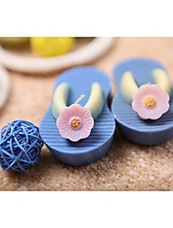 Pair of Miniature Flip Flop Candles in Blue(set of 4)
