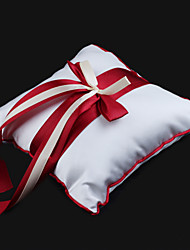 Wedding Ring Pillow In Satin With Ribbon Bow