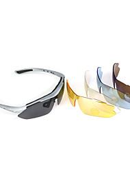 gafas de sol gafas de seguridad 5 UV400 polarizado lentes con marco de plata