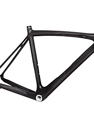 700C High Quality Full Carbon Feather Light Classical Diamond Racing Road Bike Frame Natural Color