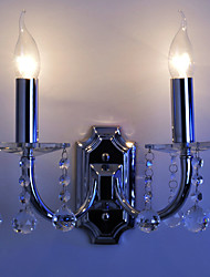 K9 Crystal Wall Light with 2 Lights - Candle Style