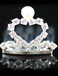 Gorgeous Rhinestones With Imitation Pearl Wedding Flower Girl Combs/ Tiara/ Headpiece