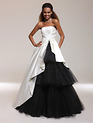 Prom/Formal Evening/Quinceanera/Sweet 16 Dress - Ivory Plus Sizes Ball Gown/A-line/Princess Strapless Floor-length Satin/Tulle
