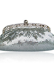 Gorgeous Satin With Sequins and Crystal Evening Bag Handbag Purse Clutch. More Colors Available (6087)