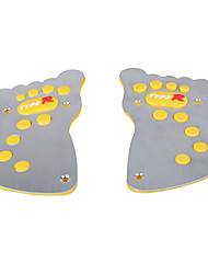 2 PCS Footprints Style Car Brake/Clutch Pedal/Accelerator Pedal-Yellow+Silver