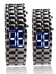 Sport LED-Horloge In Digitale Lavastijl