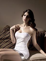 sexy acrílico comprimento curto sleepwear