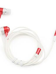 1,2 m hoge kwaliteit stereo oortelefoon (rood)