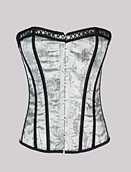 damasco fechamento busk strapless frente corsets shapewear ocasião especial