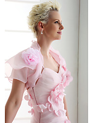Wedding Organza Coats/Jackets Short Sleeve Wedding  Wraps