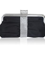 Silk Shell With Rhinestone Evening Handbags