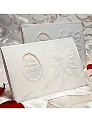 élégant design en relief rose d'invitation de mariage à trois volets (jeu de 50)