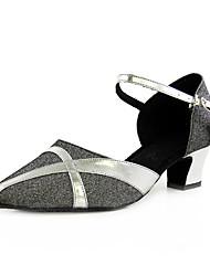 Ткань / искусственная кожа верхних танцевать бальные туфли латинские / современных женщин
