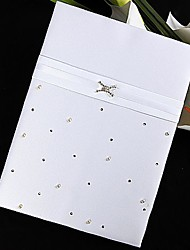 """Love Ever Lasting"" Guest Book with Folded Blank Pages Sign In Book"